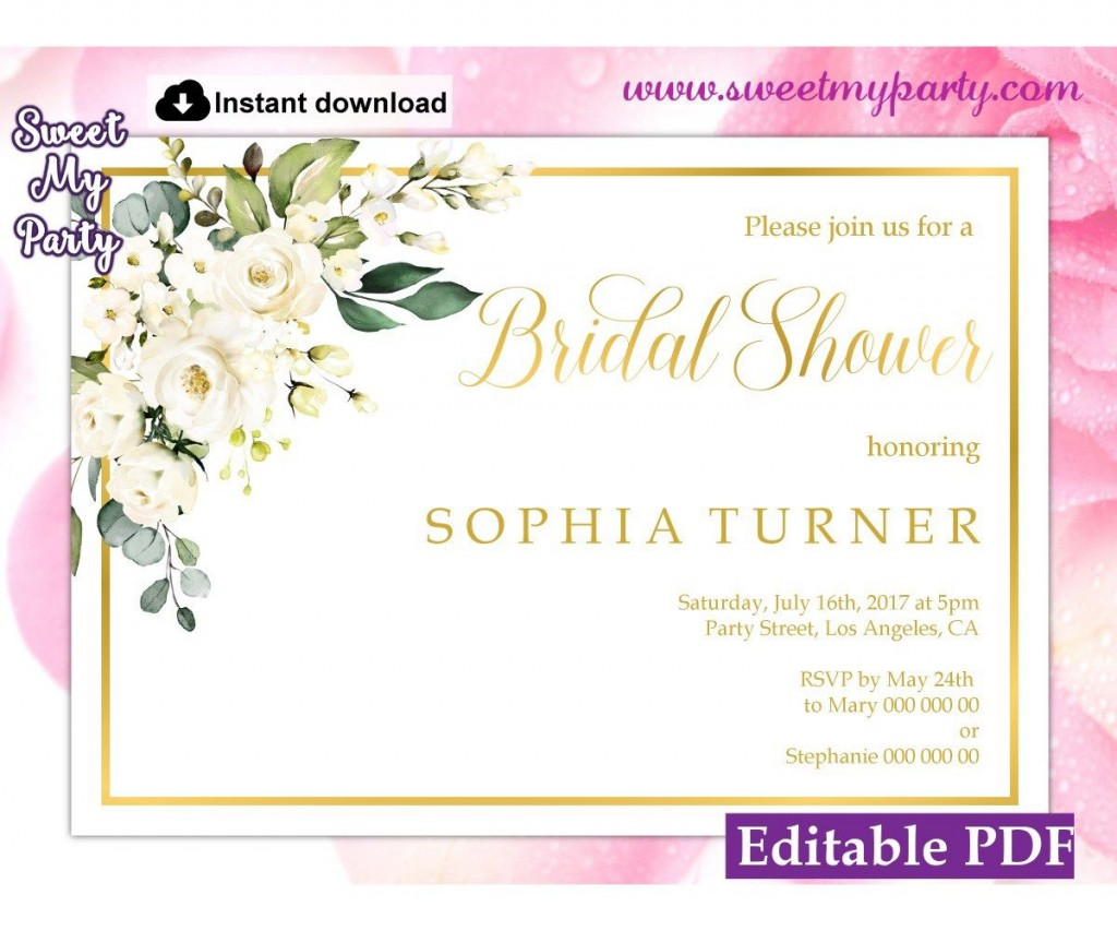 008 Impressive Wedding Shower Invitation Template Image  Templates Bridal Pinterest Microsoft Word Free ForLarge