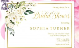 008 Impressive Wedding Shower Invitation Template Image  Templates Bridal Pinterest Microsoft Word Free For