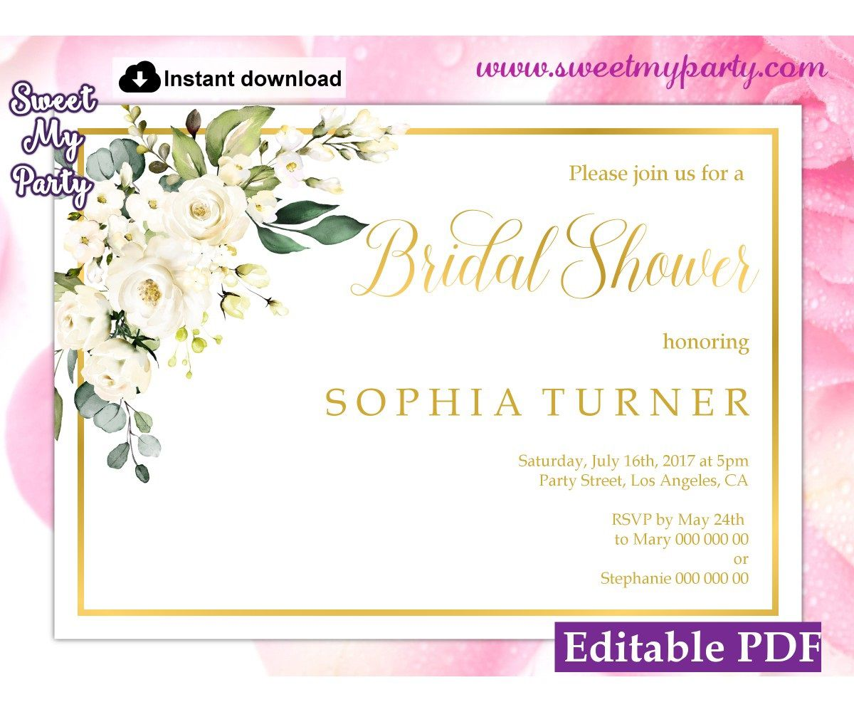 008 Impressive Wedding Shower Invitation Template Image  Templates Bridal Pinterest Microsoft Word Free ForFull