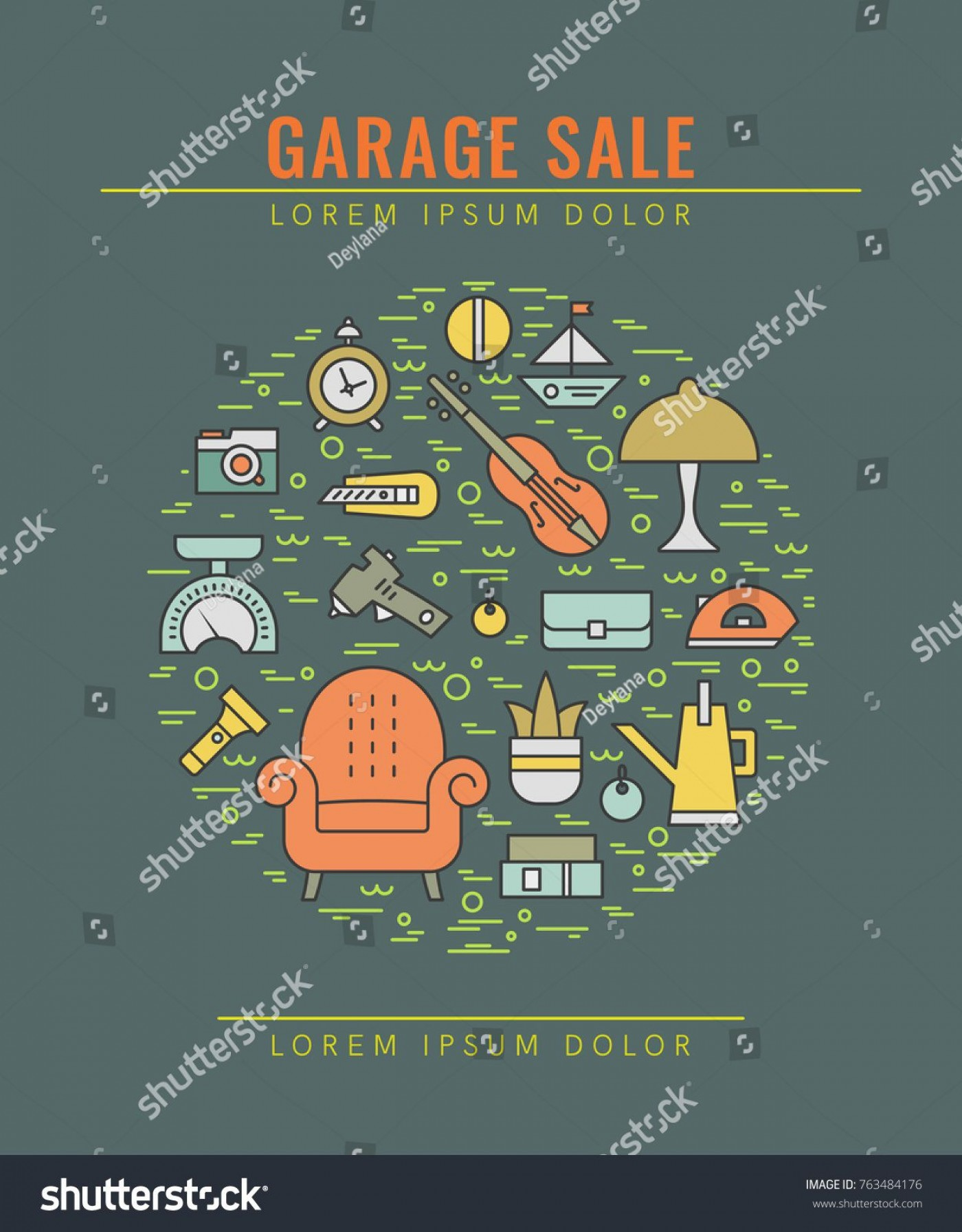 008 Impressive Yard Sale Flyer Template Concept  Free Garage Microsoft Word1400