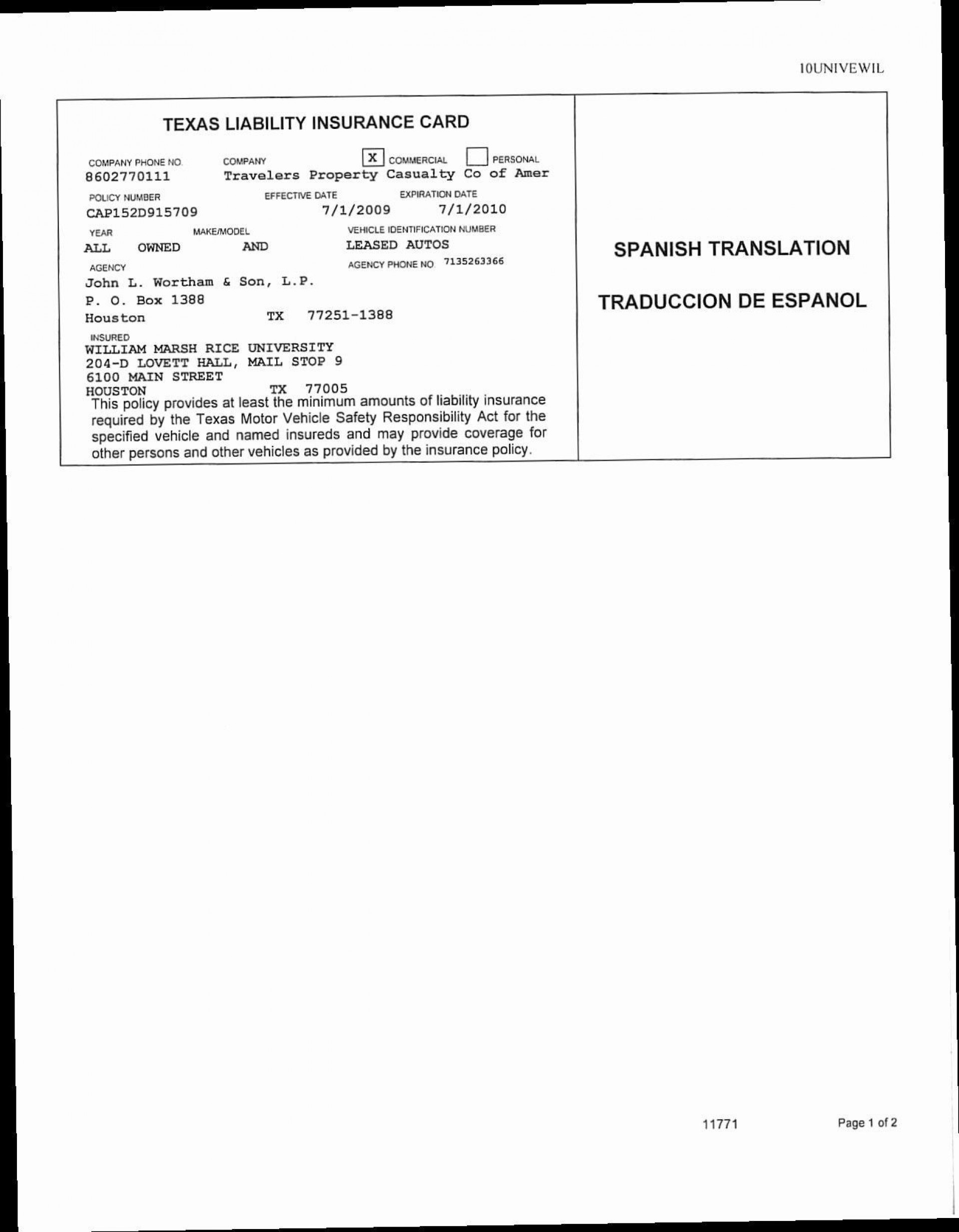 Fake Car Insurance Template  Life Insurance Blog Intended For Auto Insurance Id Card Template