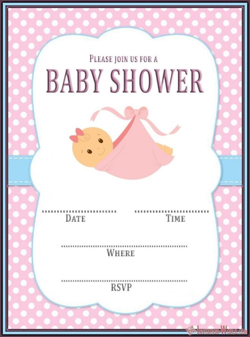 008 Incredible Baby Shower Invitation Girl Free Printable Idea  Twin868