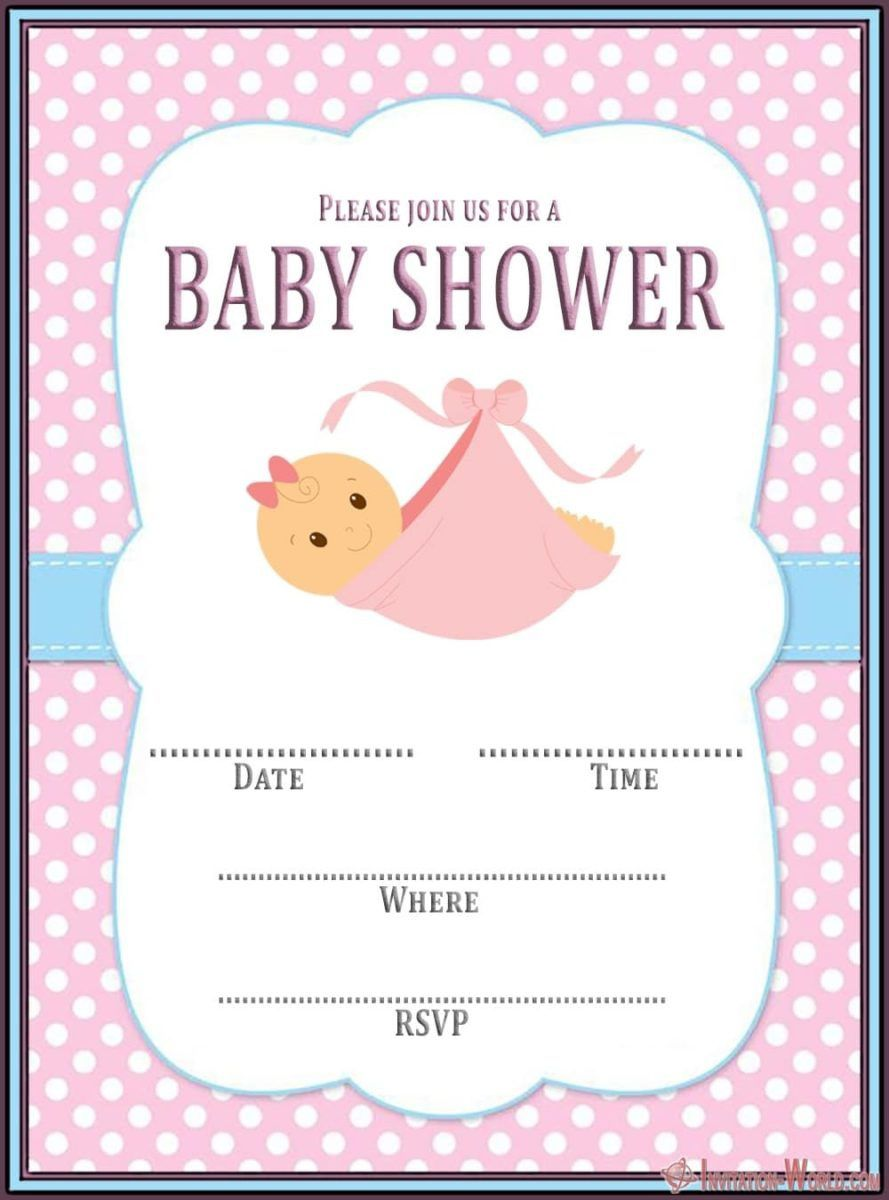 008 Incredible Baby Shower Invitation Girl Free Printable Idea  TwinFull