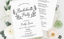 008 Incredible Bachelorette Party Itinerary Template Free Inspiration  Download