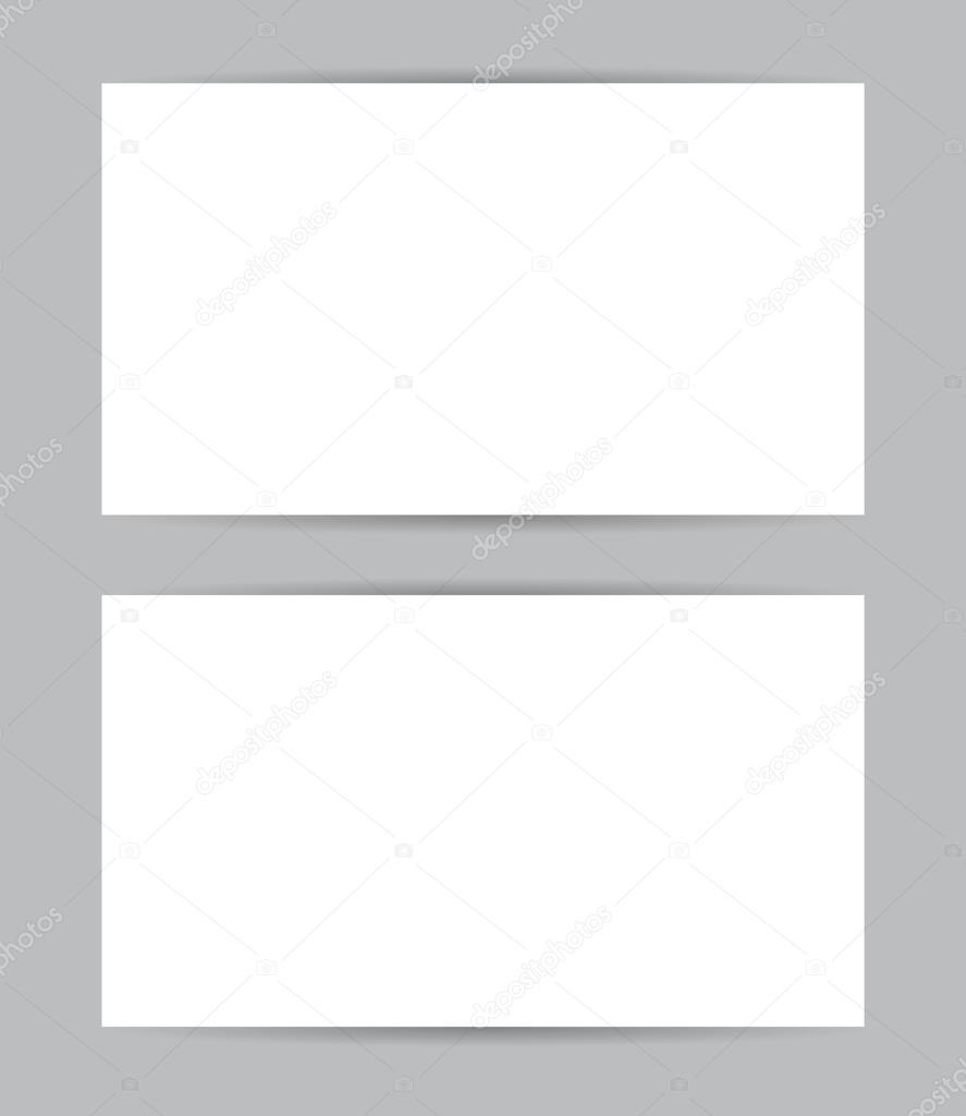 Business Card Blank Template Example