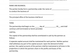 008 Incredible Busines Partnership Contract Template High Def  Agreement Free Nz Word