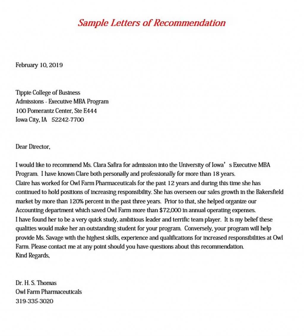 008 Incredible College Letter Of Recommendation Template Image  Writing Scholarship From EmployerLarge