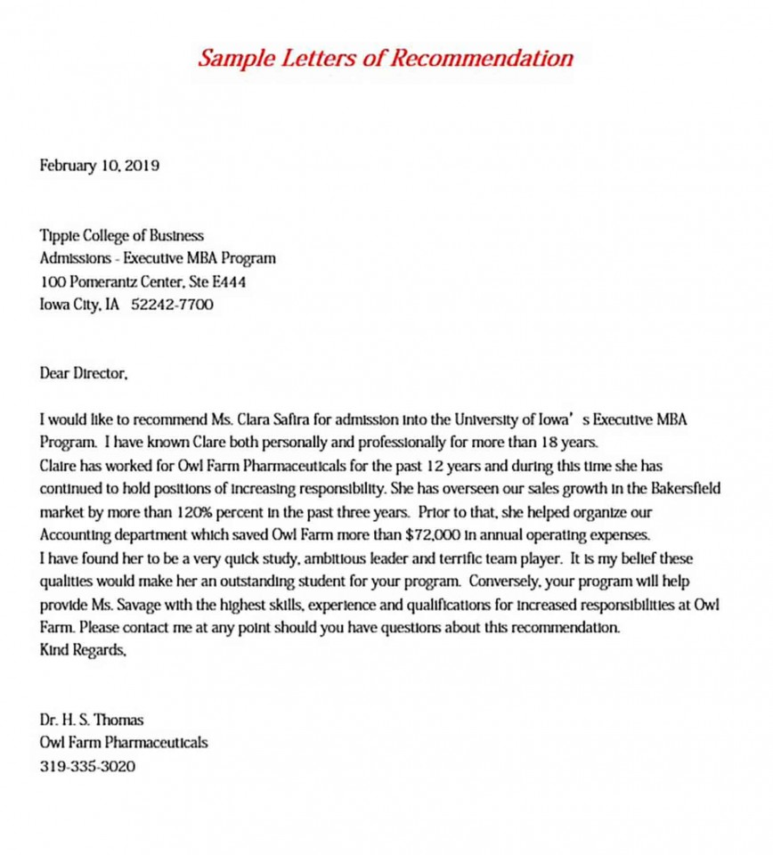 008 Incredible College Letter Of Recommendation Template Image  From Teacher Employer Writing