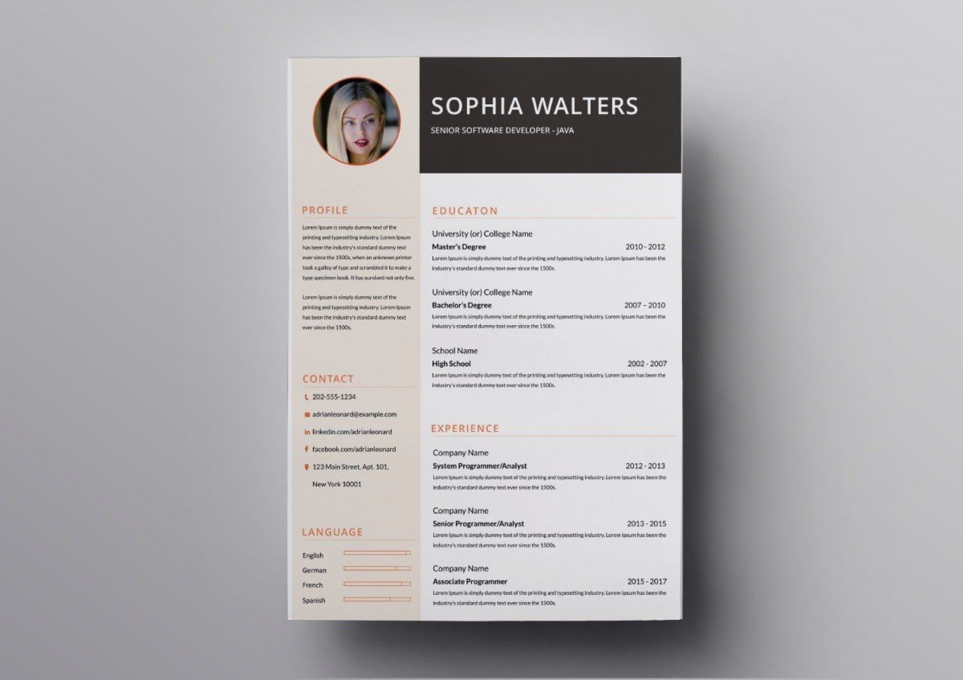 008 Incredible Download Resume Template Free Mac Example  For1920