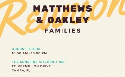 008 Incredible Family Reunion Invitation Template Free Design  For Word Online