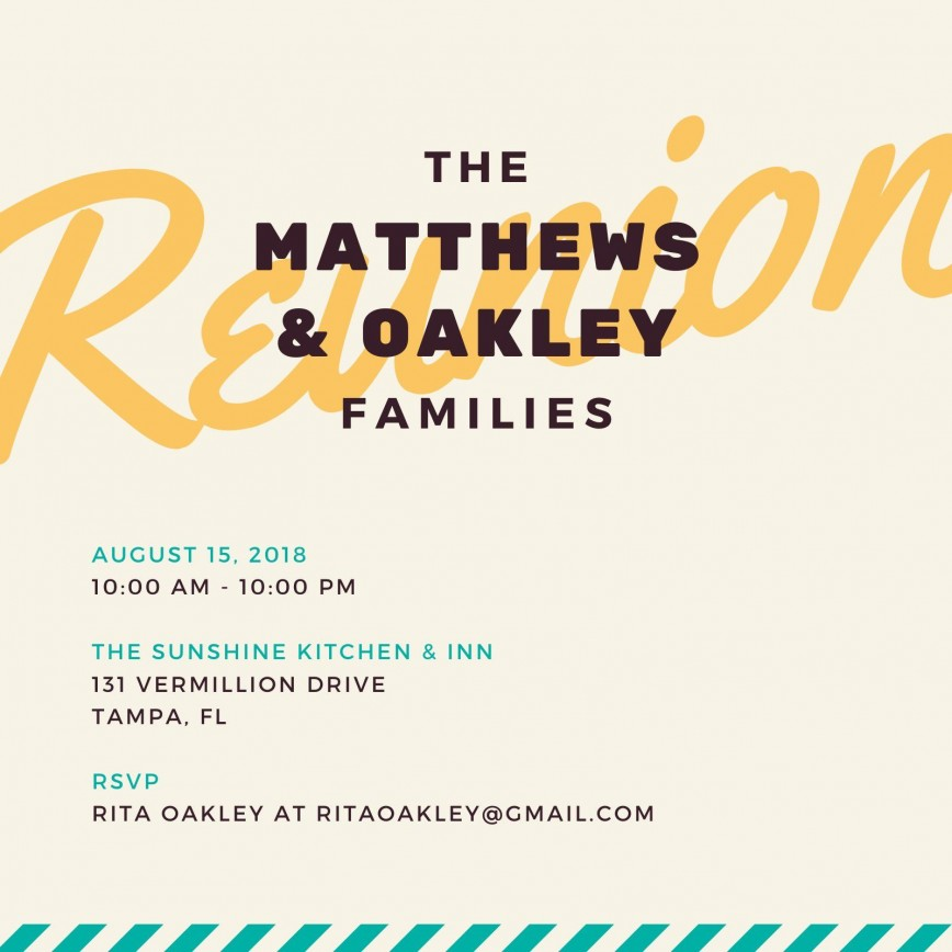 008 Incredible Family Reunion Invitation Template Free Design  Online Flyer Word