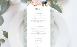 008 Incredible Free Printable Wedding Menu Card Template Highest Quality
