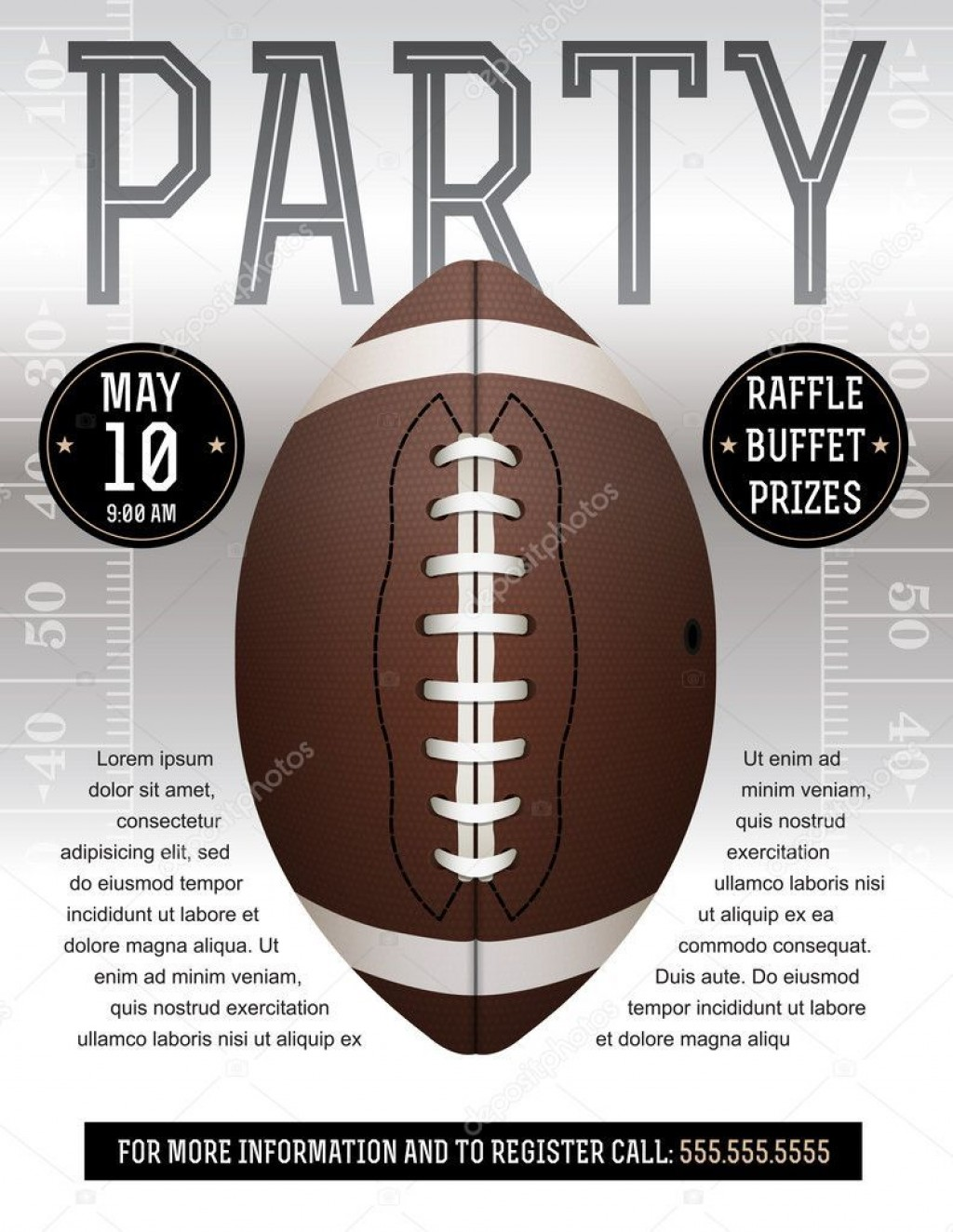 008 Incredible Free Tailgate Party Flyer Template Download Concept Large