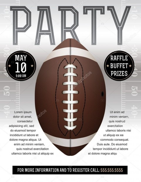 008 Incredible Free Tailgate Party Flyer Template Download Concept 480