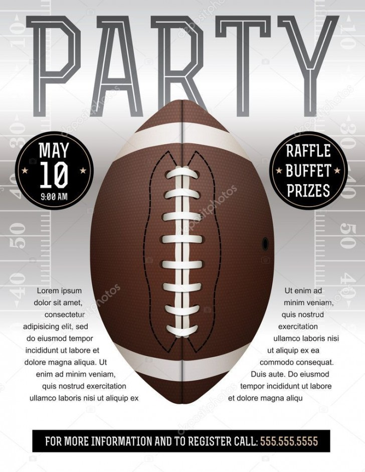 008 Incredible Free Tailgate Party Flyer Template Download Concept 728
