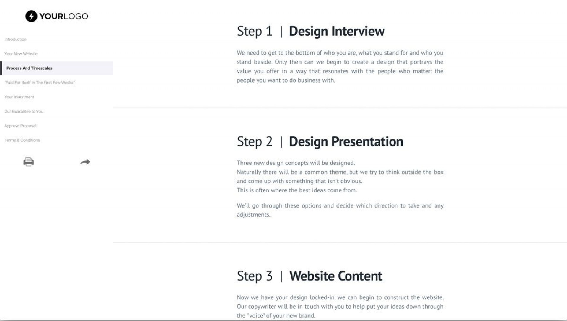 008 Incredible Freelance Website Design Proposal Template High Def 1920