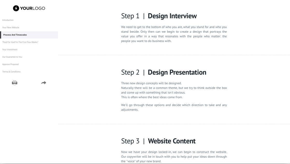 008 Incredible Freelance Website Design Proposal Template High Def Full