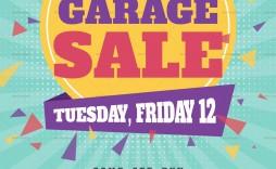 008 Incredible Garage Sale Flyer Template Free Example  Community Neighborhood Yard