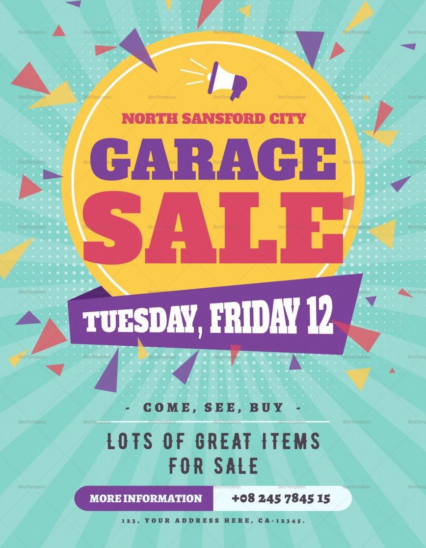 008 Incredible Garage Sale Flyer Template Free Example  Yard Microsoft Word Community