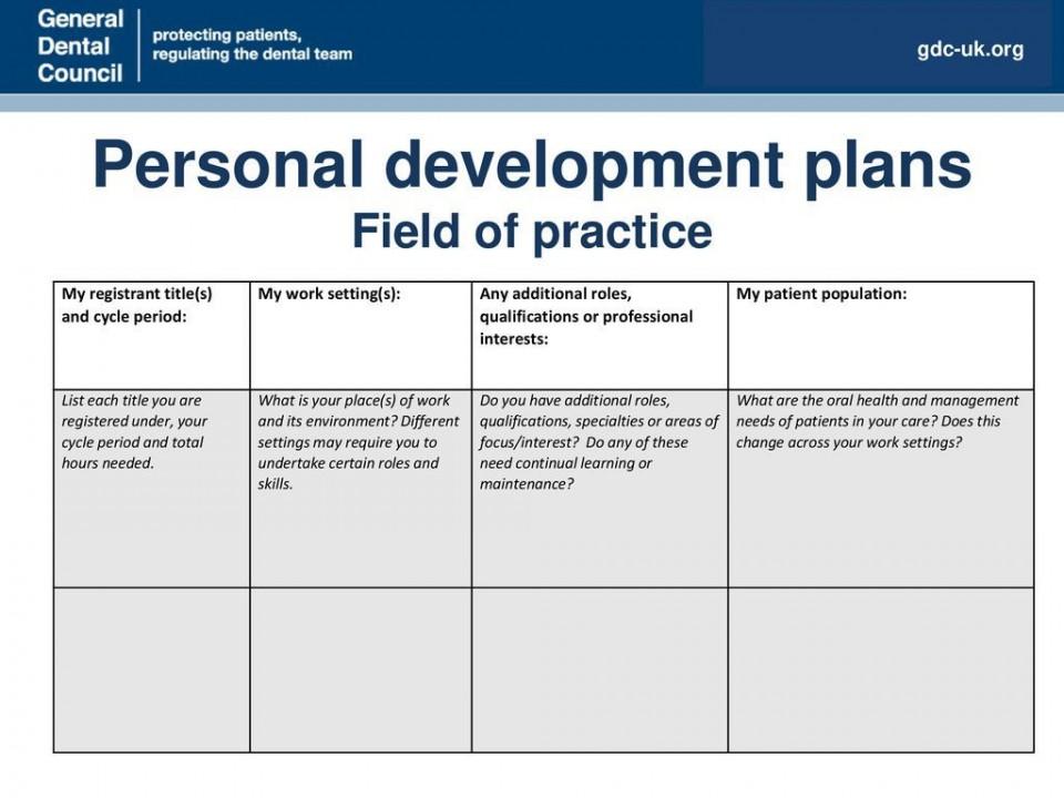 008 Incredible Personal Development Plan Template Gdc Inspiration  Free960