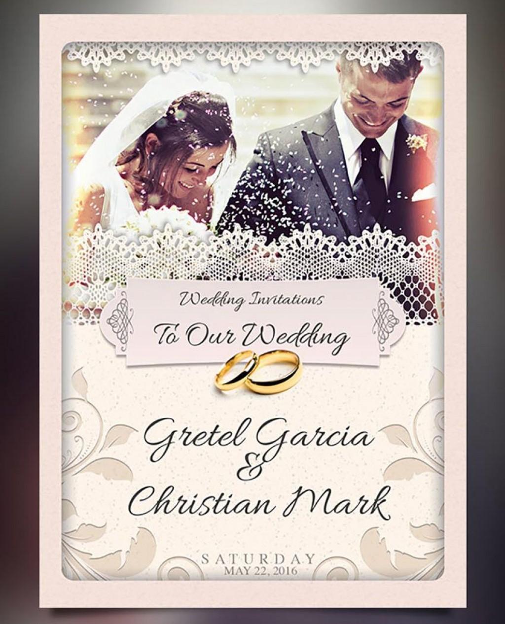 008 Incredible Photoshop Wedding Invitation Template Image  Templates Hindu Psd Free Download CardLarge