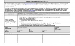 008 Incredible Project Management Plan Template Doc High Def  Example