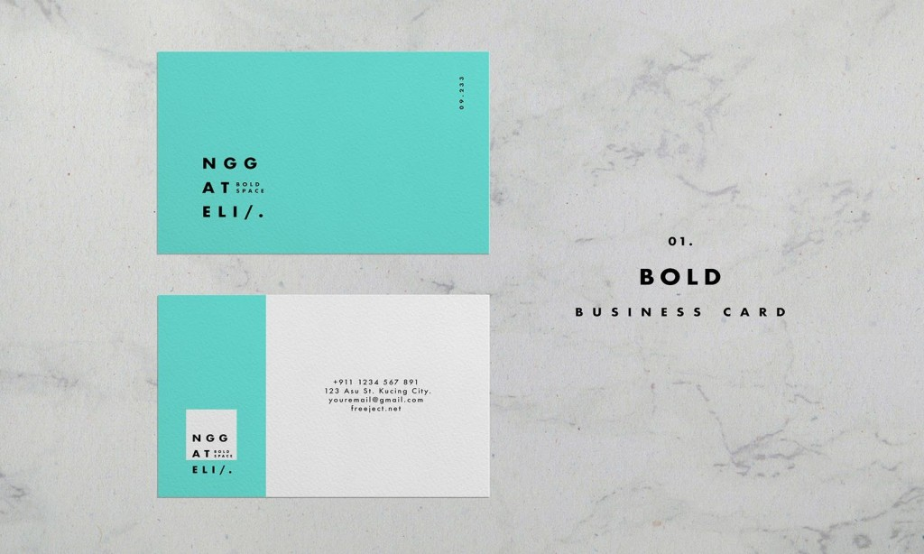 008 Incredible Simple Busines Card Template Photoshop Design Large