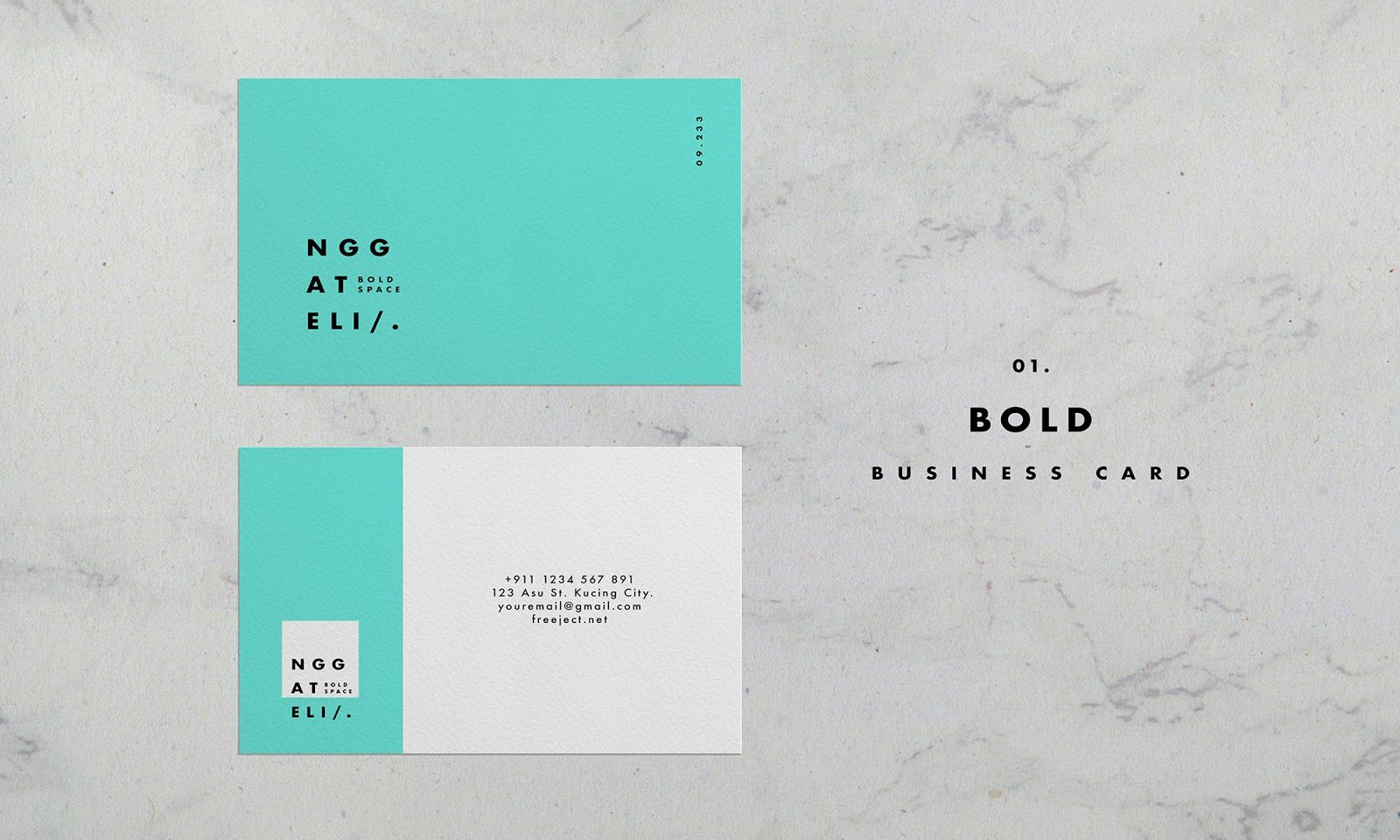 008 Incredible Simple Busines Card Template Photoshop Design Full