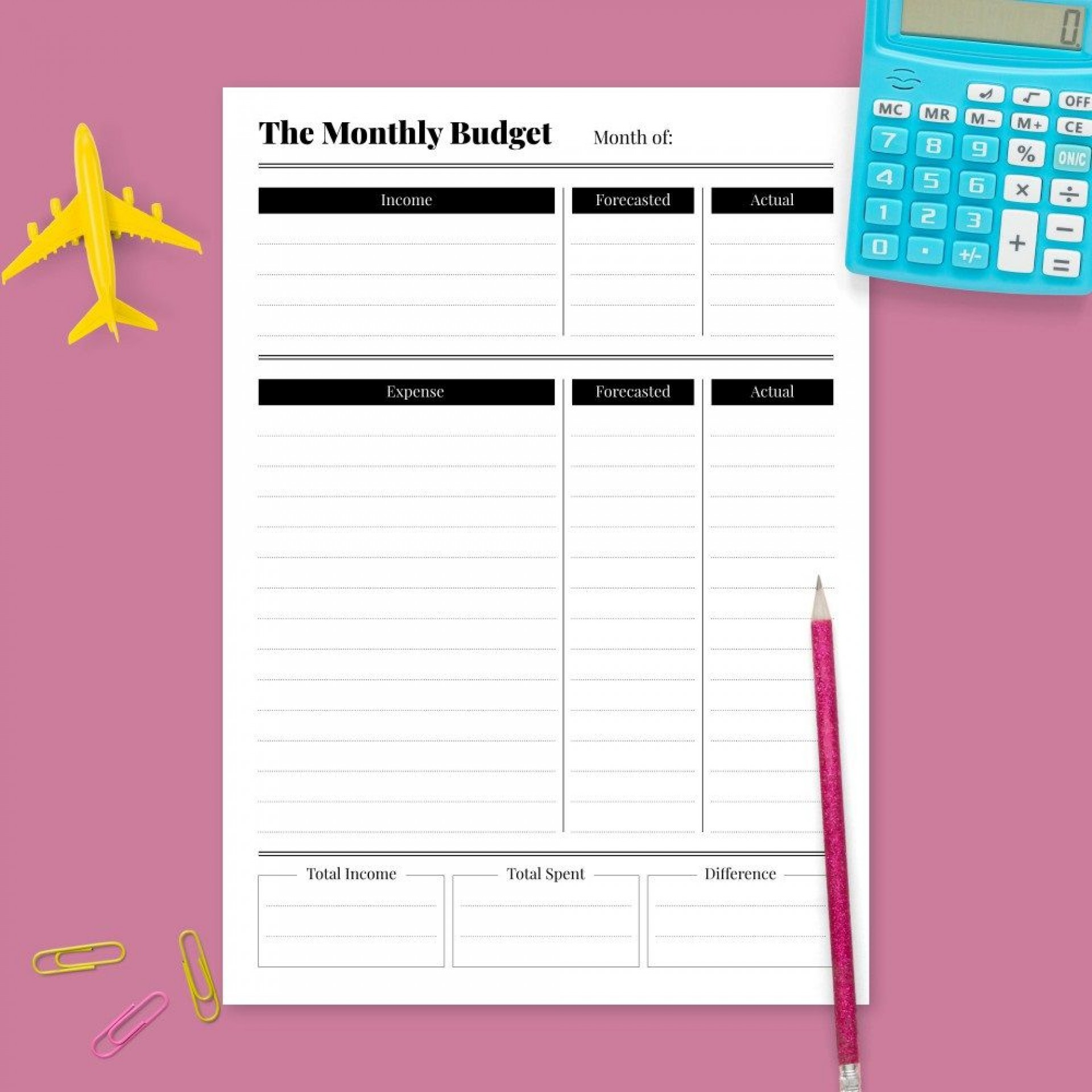 008 Incredible Simple Line Item Budget Template Picture 1920