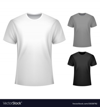008 Incredible T Shirt Template Free Sample  White Psd Download Design Website320