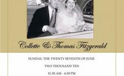 008 Magnificent 50th Wedding Anniversary Invitation Template Free Design  Download Golden Microsoft Word
