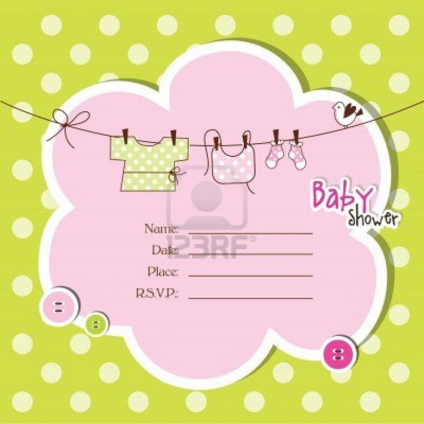 008 Magnificent Baby Shower Invitation Template Microsoft Word Highest Clarity  Free Editable868