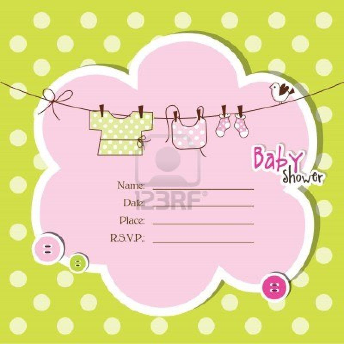 008 Magnificent Baby Shower Invitation Template Microsoft Word Highest Clarity  Free EditableFull