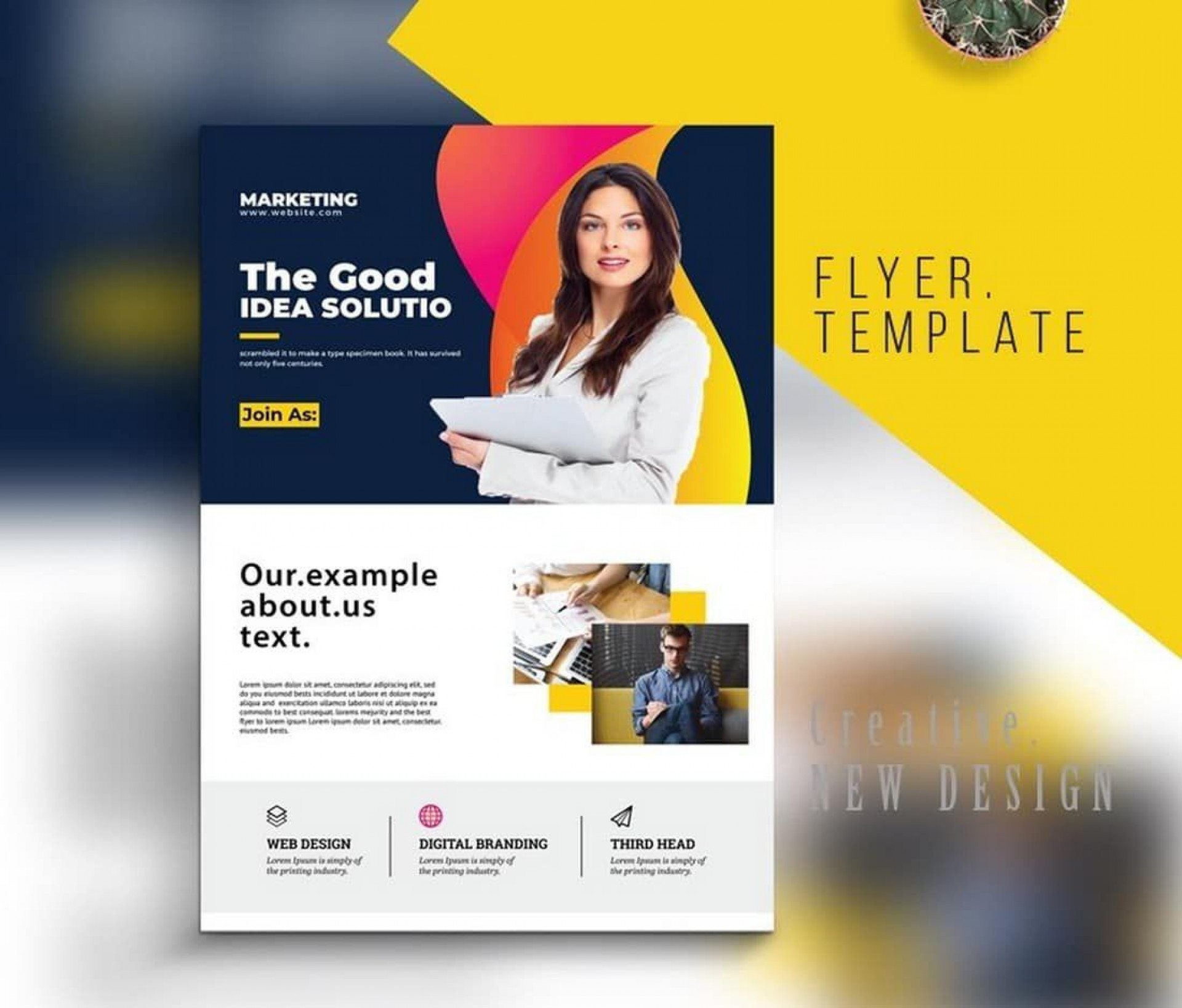 008 Magnificent Busines Flyer Template Free Design  Psd 2018 Vector Brochure Training1920