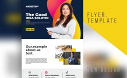 008 Magnificent Busines Flyer Template Free Design  Psd 2018 Vector Brochure Training