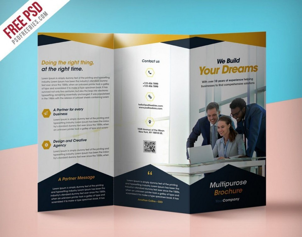 008 Magnificent Busines Flyer Template Free Download Inspiration  Photoshop Training Design960