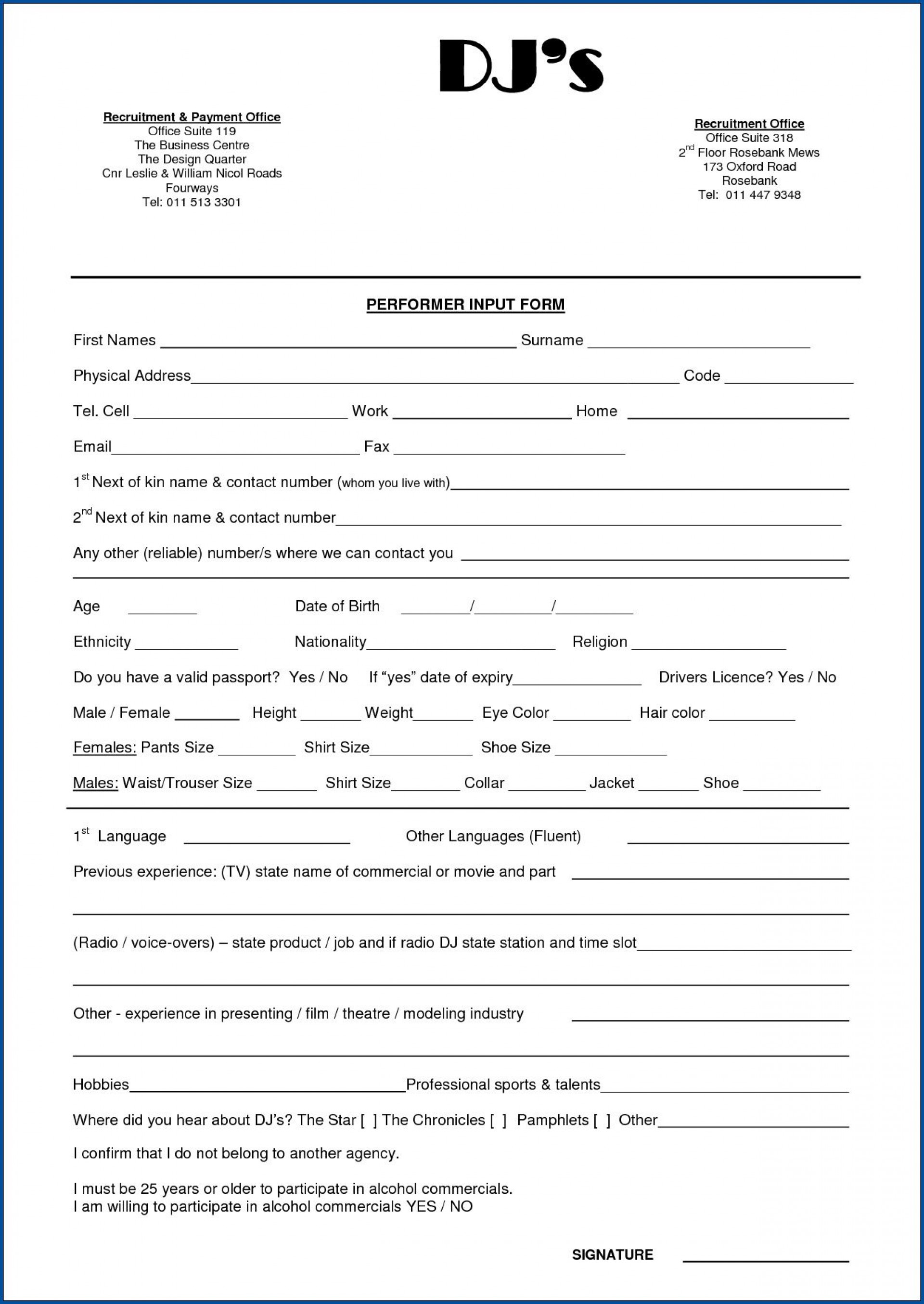 008 Magnificent Disc Jockey Contract Template Idea  Disk Free1920
