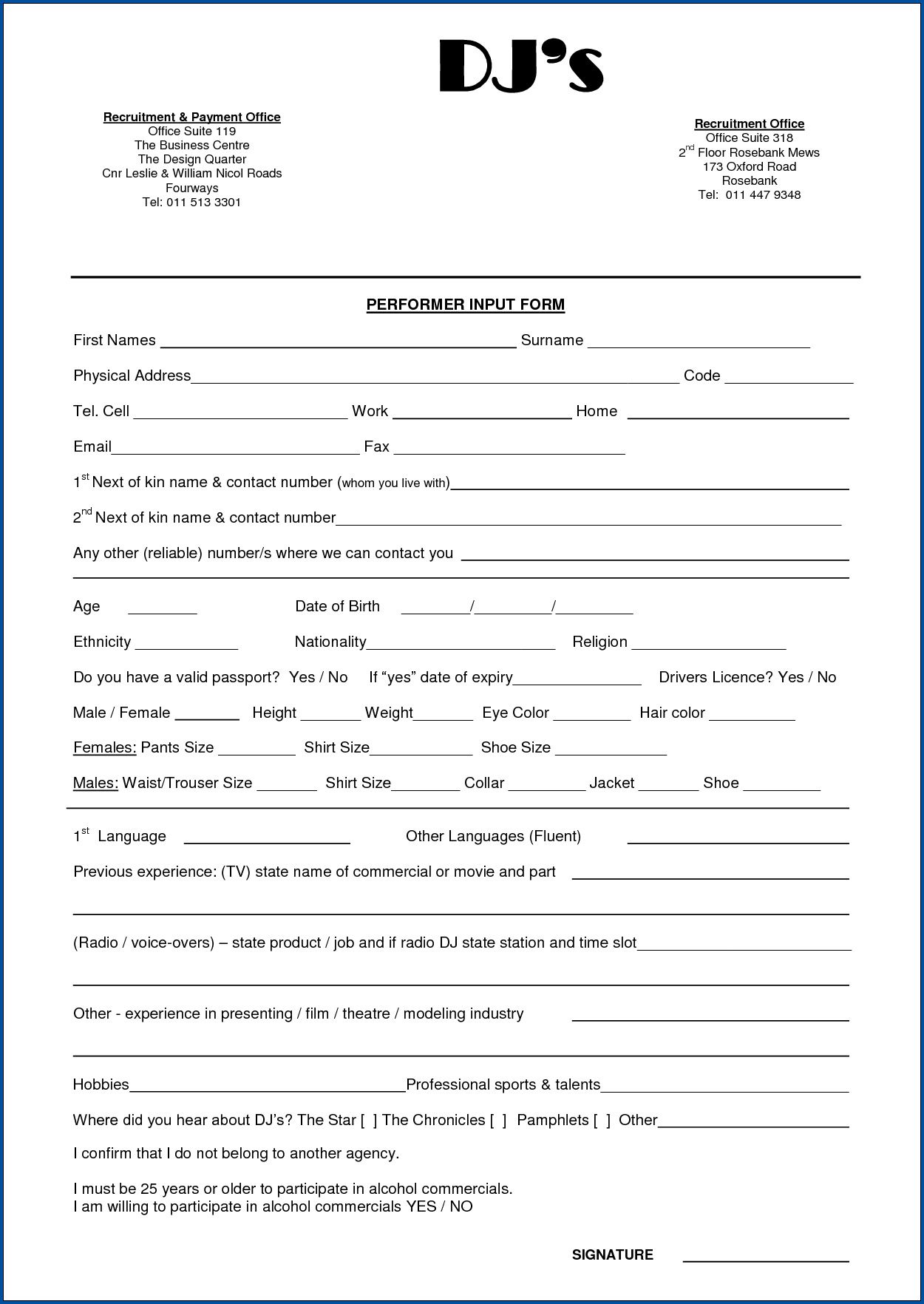 008 Magnificent Disc Jockey Contract Template Idea  Disk FreeFull