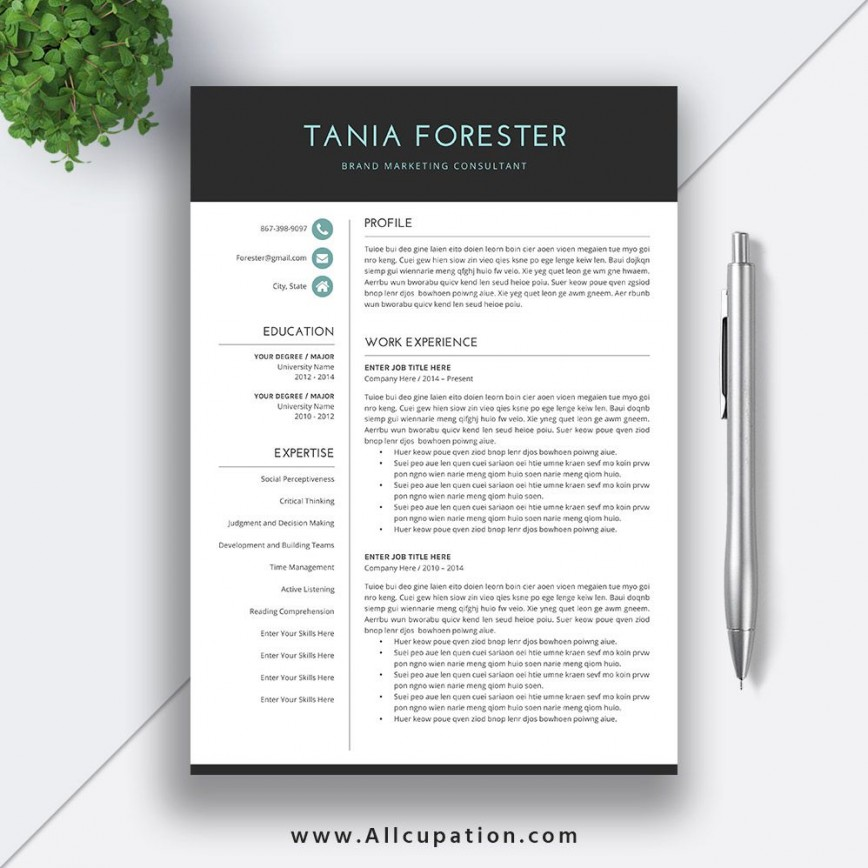 Download Resume Template Word Addictionary