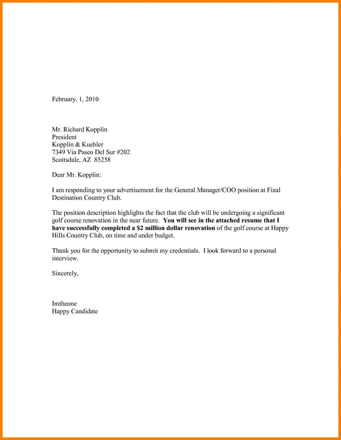 008 Magnificent Email Cover Letter Example For Resume  Sample Through AttachedFull