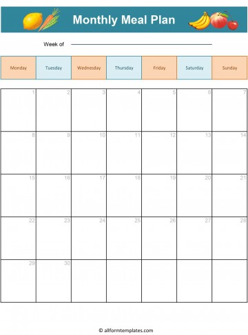 008 Magnificent Excel Weekly Meal Planner Template Highest Clarity  With Grocery List Downloadable360