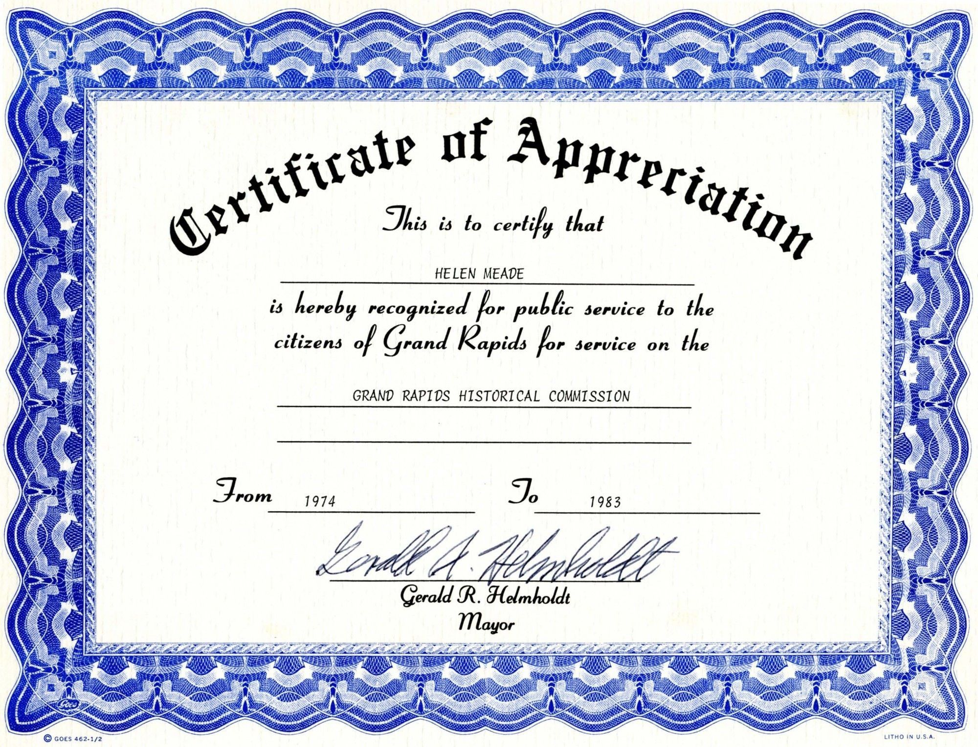 008 Magnificent Free Certificate Template Word Download Sample  Of Appreciation Doc Award BorderFull