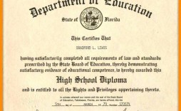 008 Magnificent Ged Certificate Template Download Sample  Free