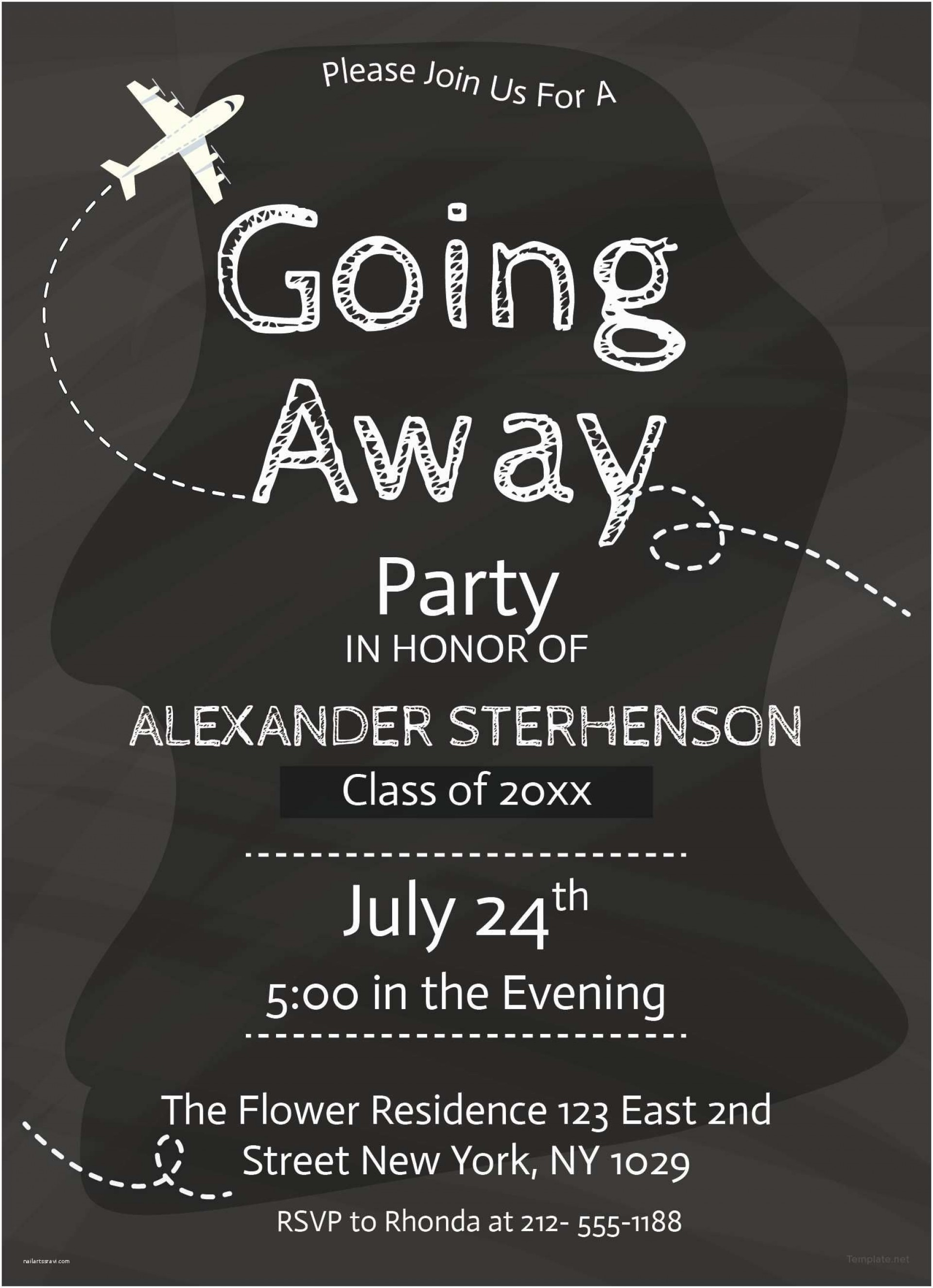 008 Magnificent Going Away Party Invitation Template Picture  Free Printable1920