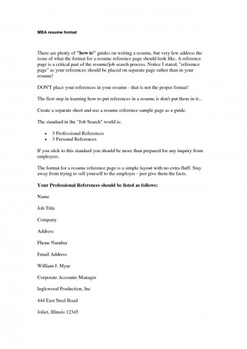 008 Magnificent List Personal Reference Sample 360