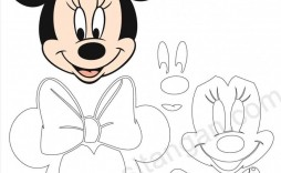 008 Magnificent Mickey Mouse Face Cake Template Printable High Def
