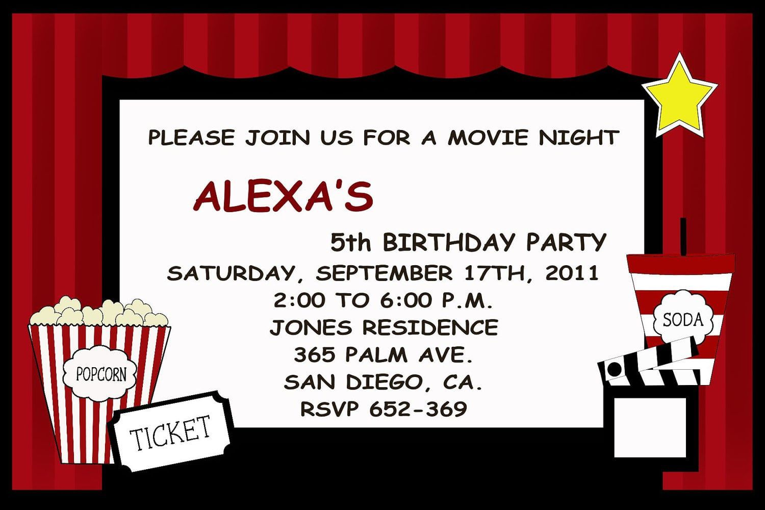 008 Magnificent Movie Ticket Invitation Template Highest Quality  Blank Free Download Editable PrintableFull