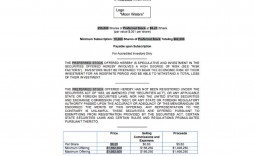 008 Magnificent Private Placement Memorandum Real Estate Example High Definition