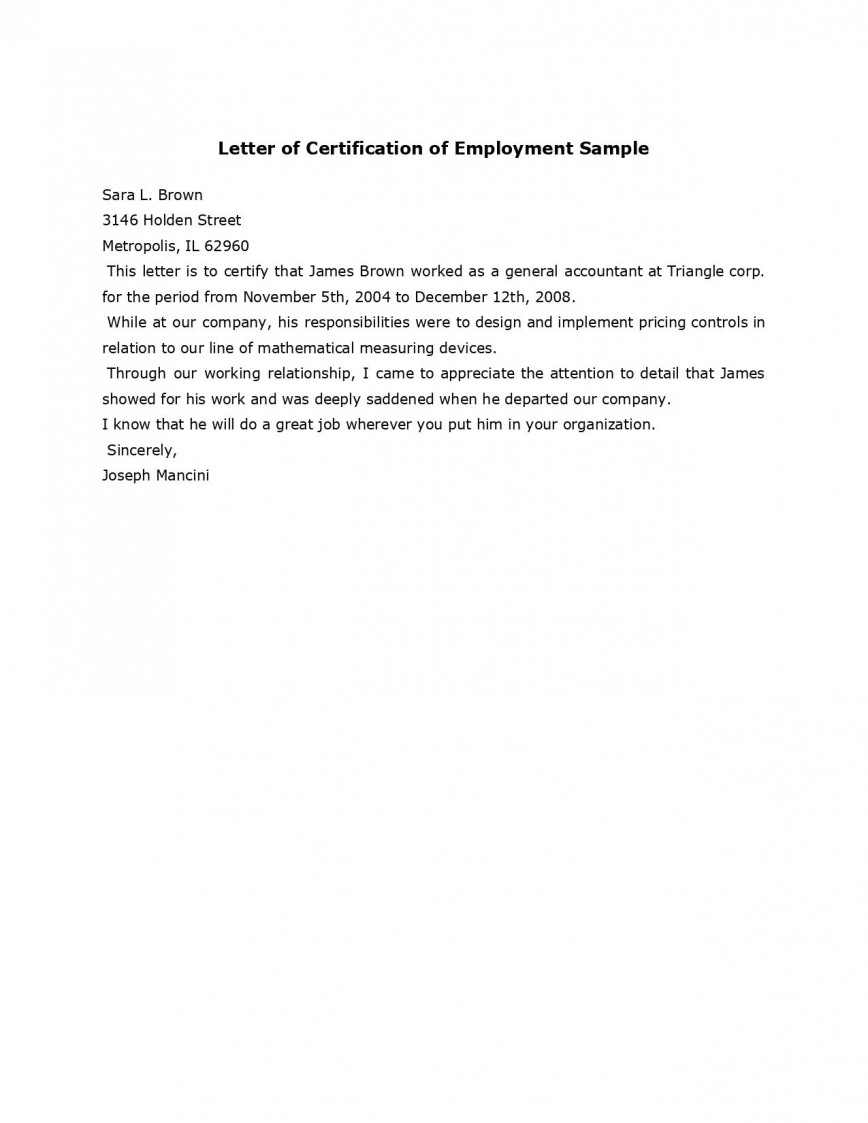 008 Magnificent Proof Of Employment Letter Template Doc Highest Quality  Confirmation Document Sample