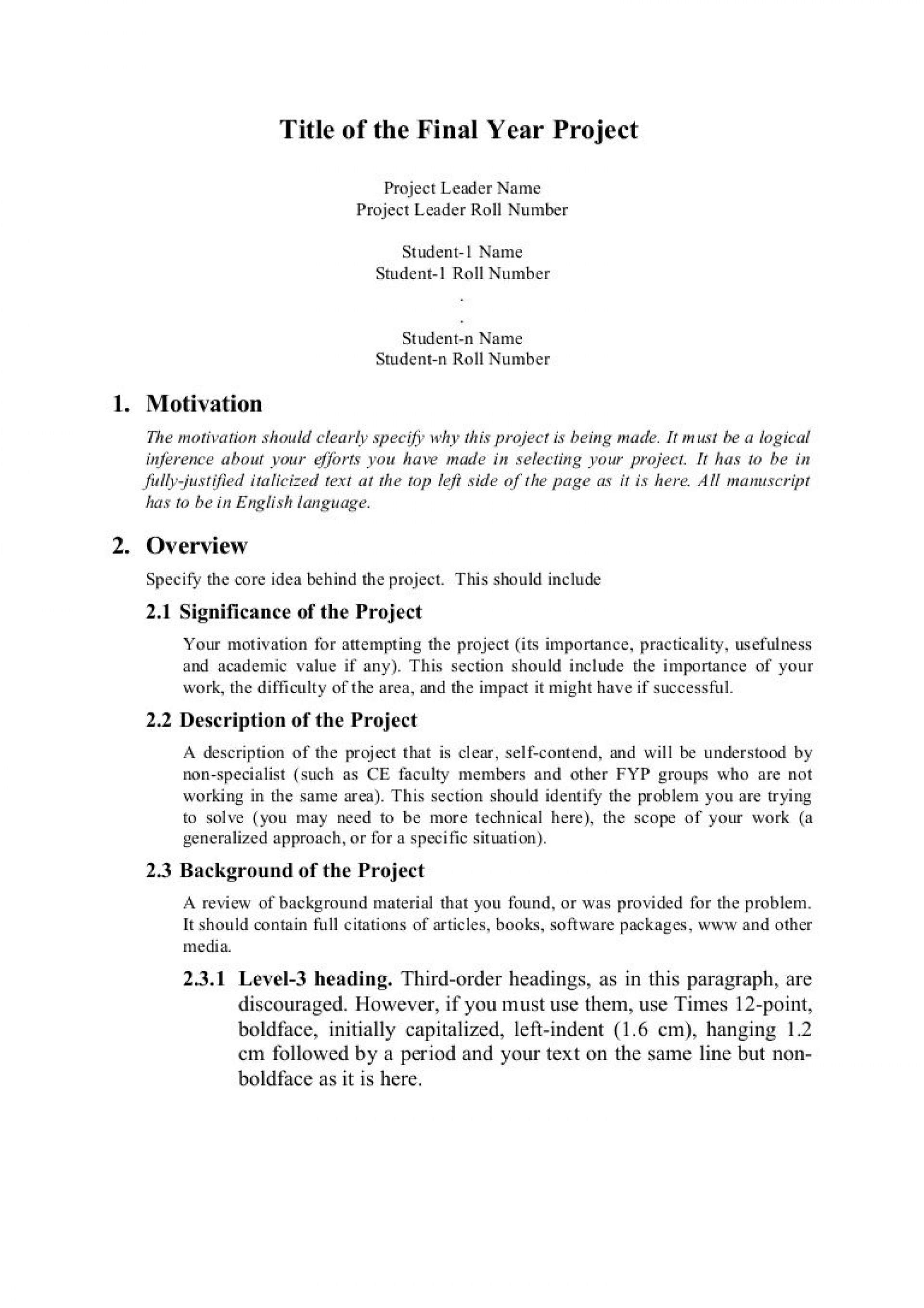 008 Magnificent Research Project Proposal Example Pdf Inspiration  Format1920